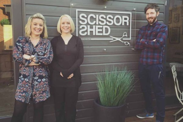 Scissor Shed at Draper's Yard Market and Studios in Chichester