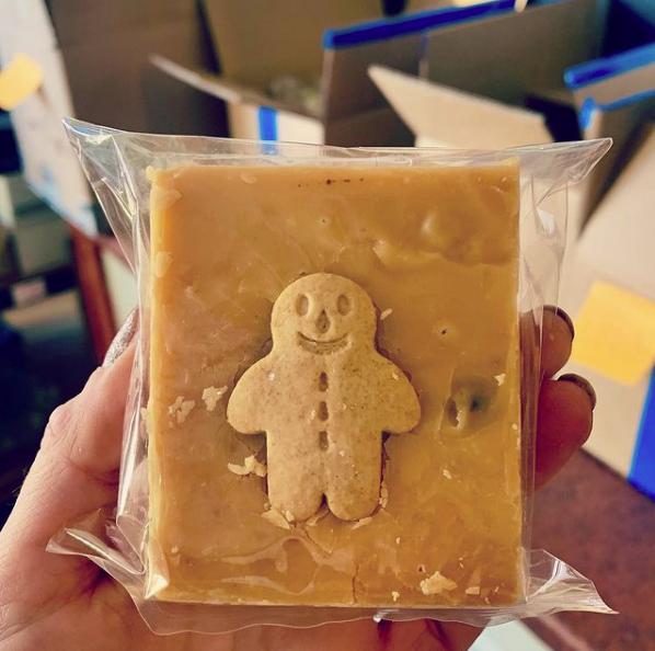 Slab Artisan Gingerbread Man Fudge